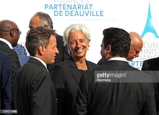 Timothy Geithner US treasury secretary left Christine Lagarde managing director of the International Monetary Fund center and Ali Babacan Turkey's...