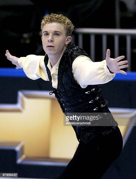 Timothy Goebel competes Thursday January 7 2004 in Short Program at the 2004 State Farm U S Figure Skating Championships at Philips Arena Atlanta...