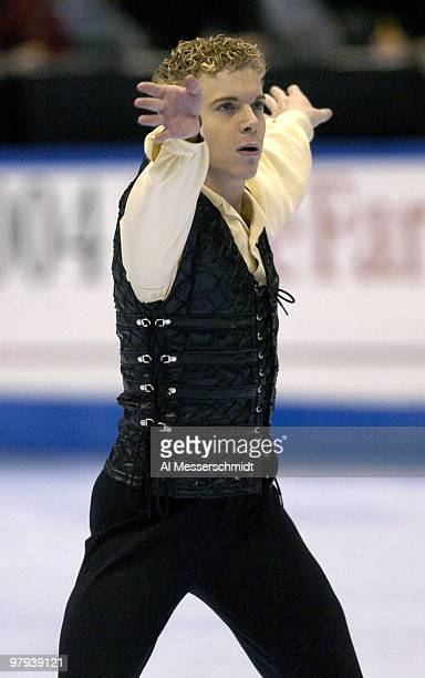 Timothy Goebel competes Thursday January 7 2004 in the Short Program at the 2004 State Farm U S Figure Skating Championships at Philips Arena in...
