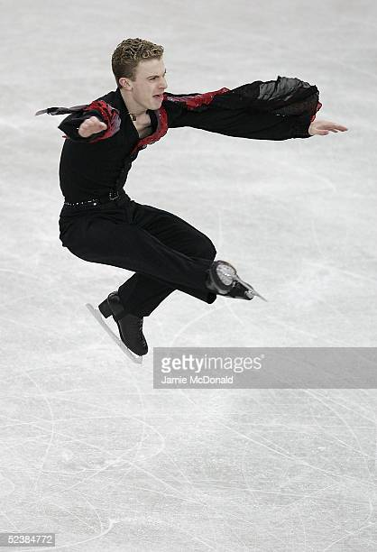 Timothy Goebel of USA in action during the mens qualifying free skating group B at the ISU World Figure Skating Championships at the Lunzhiki Sports...