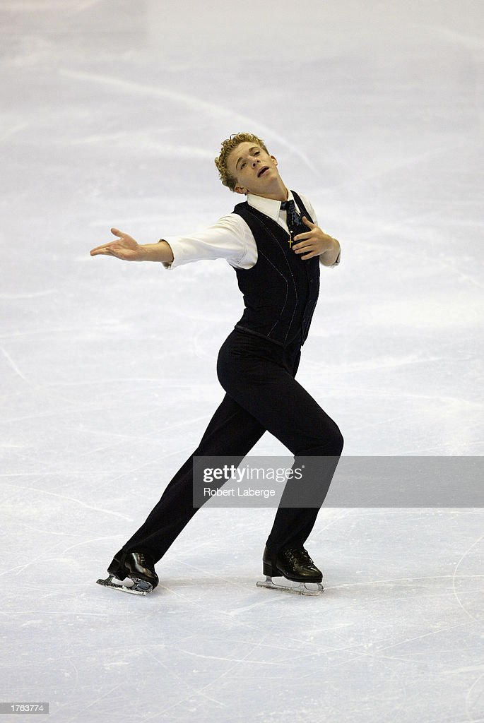 Timothy Goebel skates to a second place finish during the men's free skate program at the State Farm US Figure Skating Championships on January 18, 2003 at the American Airlines Center in Dallas, Texas.