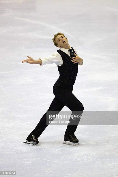 Timothy Goebel skates to a second place finish during the men's free skate program at the State Farm US Figure Skating Championships on January 18...