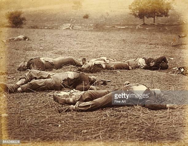 Timothy H. O'Sullivan , printed by Alexander Gardner , Field Where General Reynolds Fell, Gettysburg, negative July 1863, print 1866, albumen silver...