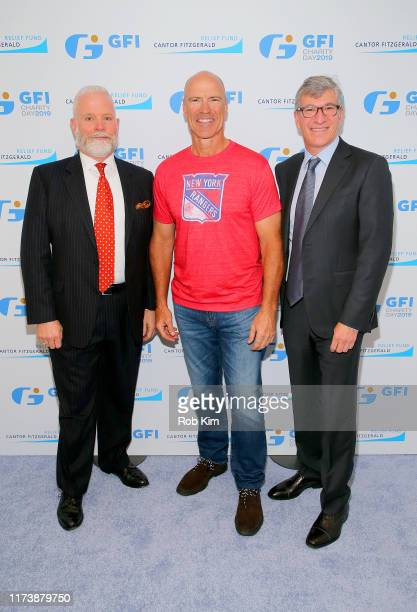 Timothy Hidson Mark Messier and Paul Orin attend Annual Charity Day Hosted By Cantor Fitzgerald BGC and GFI on September 11 2019 in New York City