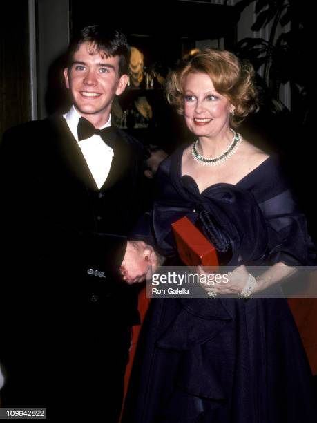 Timothy Hutton and Arlene Dahl during 53rd Annual Academy Awards Governor's Ball at Beverly Hilton Hotel in Beverly Hills California United States