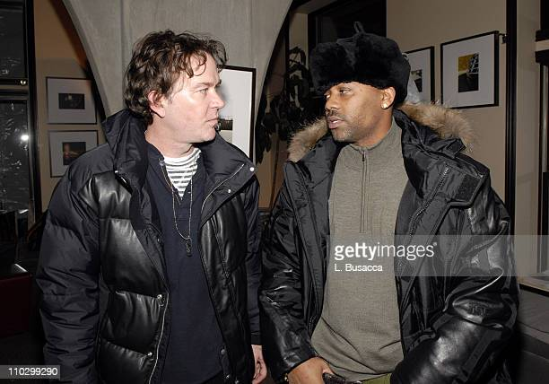 Timothy Hutton and Damon Dash during 2007 Park City Hollywood Life House Weapons Cocktail Party at Hollywood Life House in Park City Utah United...
