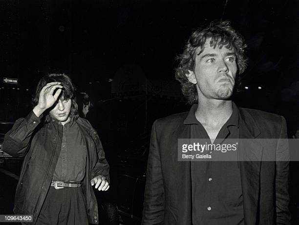 Timothy Hutton and guest during Timothy Hutton Sighting at Elaine's Restaurant June 15 1982 at Elaine's Restaraunt in New York City New York United...