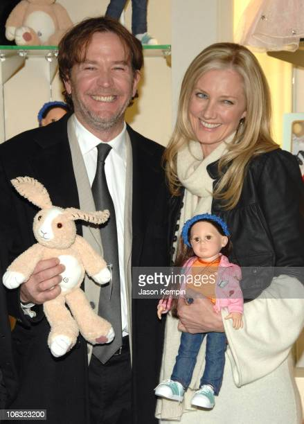 Timothy Hutton and Joely Richardson during The Last Mimzy Doll Signing At FAO Schwarz March 19 2007 at FAO Schwarz in New York City New York United...