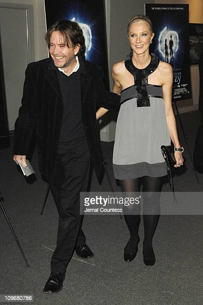 """Timothy Hutton and Joely Richardson during """"The Last Mimzy"""" - New York Premiere - Arrivals at American Museum of Natural History in New York City,..."""