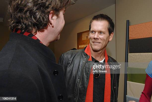 Timothy Hutton and Kevin Bacon during 2007 Park City Project Greenhouse Presented by Lexus Hybrid Living Day 3 at Project Greenhouse in Park City...