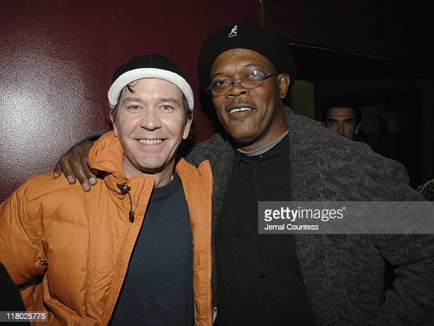 Timothy Hutton and Samuel L Jackson during 2007 Sundance Film Festival The Last Mimzy Afterparty and New Line Cinema 40th Anniversary Party at Claim...