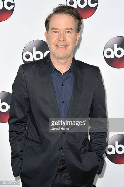 Timothy Hutton arrives at the Disney/ABC 2016 Winter TCA Tour at the Langham Hotel on January 9 2016 in Pasadena California