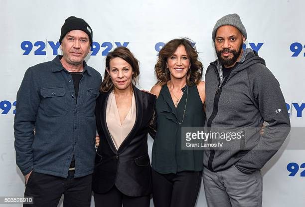 Timothy Hutton Lili Taylor Felicity Huffman and writer John Ridley attend 92nd Street Y Presents An Evening With American Crime Season Two at the...