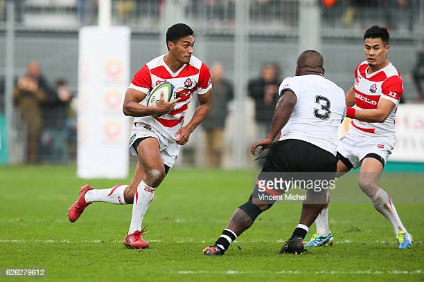 Timothy Lafaele of Japan during the Test match between Fiji and Japan at Stade de la Rabine on November 26 2016 in Vannes France
