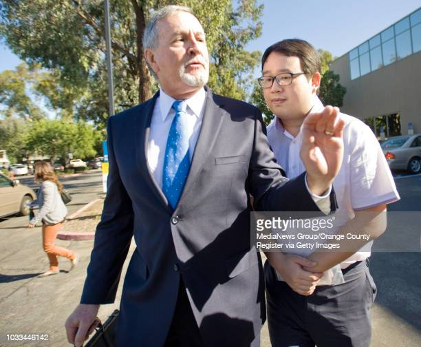 Timothy Lai and his attorney Donald Rubright have no comment as they leave Harbor Court on Tuesday Lai pleaded not guilty to 5 felony charges...
