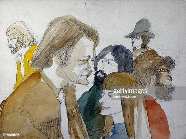 Timothy Leary in Hallway Outside Courtroom by Franklin McMahon