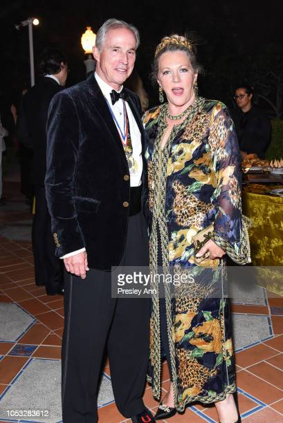 Timothy Marks and Suzanne Tucker attend Hearst Castle Preservation Foundation Hollywood Royalty Dinner at Hearst Castle on September 28 2018 in San...