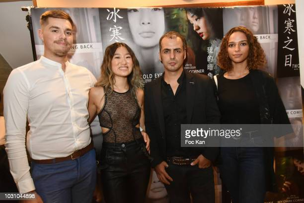Timothy Maximo Anne Hui Zhan Mustafa Ozgun and a guest attend the Mustafa Ozgun 3 Short Movies Screening At Studio Etoile on September 10 2018 in...