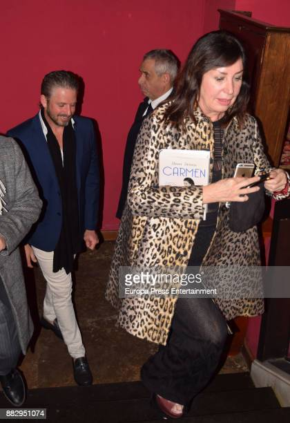 Timothy McKeague and Carmen Martinez Bordiu attend the presentation of the book 'Carmen' by Nieves Herrero the biography of the dictator Francisco...