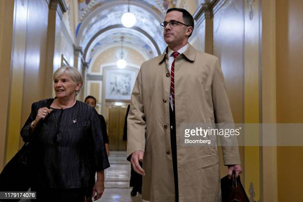 Timothy Morrison former National Security Council aide arrives to the US Capitol to testify for a closeddoor deposition before House committees in...