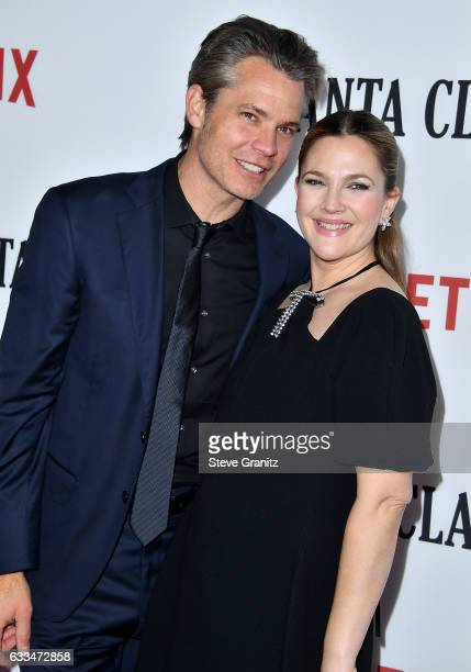 Timothy Olyphant and Drew Barrymore arrives at the Premiere Of Netflix's Santa Clarita Diet at ArcLight Cinemas Cinerama Dome on February 1 2017 in...