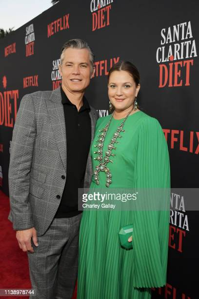 Timothy Olyphant and Drew Barrymore attend Netflix Original Series Santa Clarita Diet Season 3 Los Angeles Premiere and Afterparty on March 28 2019...
