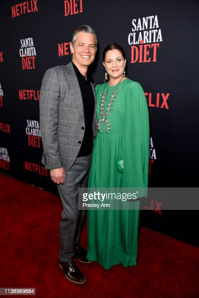 Timothy Olyphant and Drew Barrymore attend Netflix's Santa Clarita Diet Season 3 Premiere at Hollywood Post 43 on March 28 2019 in Los Angeles...