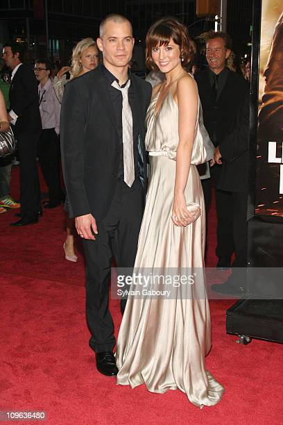 Timothy Olyphant and Mary Elizabeth Winstead during Live Free or Die Hard New York City Primiere Arrivals at Radio City Music Hall at 1260 Avenue of...
