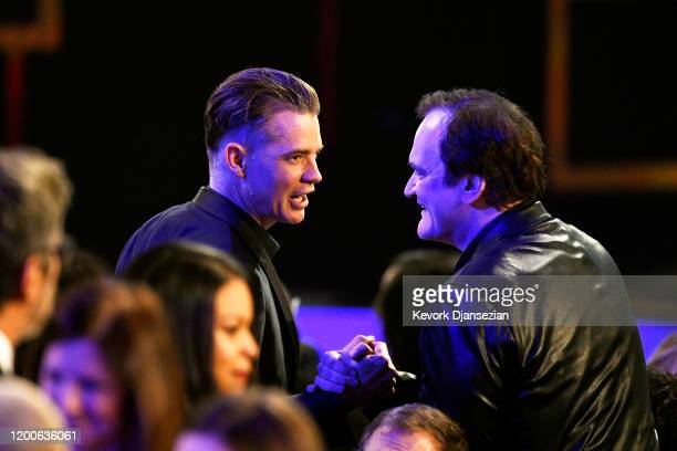 Timothy Olyphant and Quentin Tarantino attend the 26th Annual Screen Actors Guild Awards at The Shrine Auditorium on January 19, 2020 in Los Angeles,...