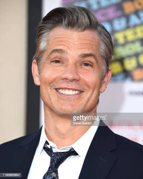 "Timothy Olyphant arrives at the Sony Pictures' ""Once Upon A Time...In Hollywood"" Los Angeles Premiere on July 22, 2019 in Hollywood, California."