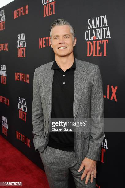 Timothy Olyphant attends Netflix Original Series Santa Clarita Diet Season 3 Los Angeles Premiere and Afterparty on March 28 2019 in Los Angeles...