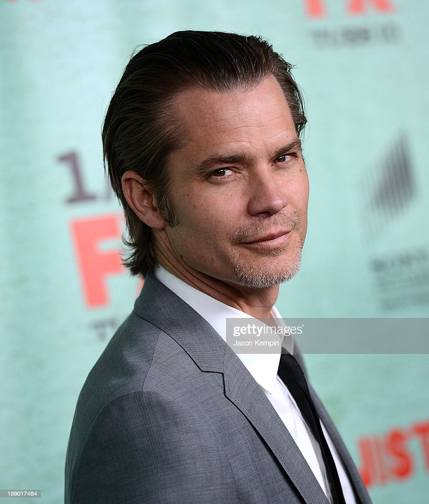 Timothy Olyphant attends the Premiere Of FX's 'Justified' Season 4 at Paramount Theater on the Paramount Studios lot on January 5, 2013 in Hollywood, California.