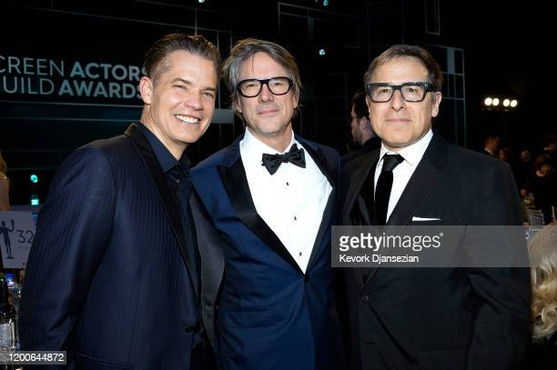 Timothy Olyphant, Charles Randoph and David O. Russell attend the 26th Annual Screen Actors Guild Awards at The Shrine Auditorium on January 19, 2020...