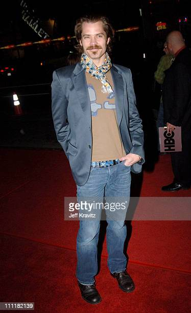 Timothy Olyphant during HBO's Deadwood Season 2 Los Angeles Premiere Arrivals at Grauman's Chinese Theater in Los Angeles California United States