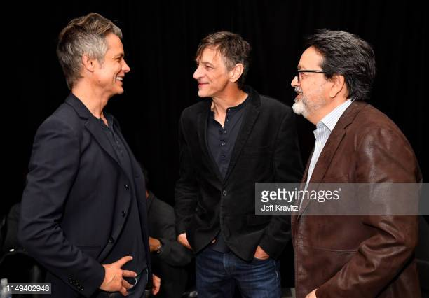 Timothy Olyphant, John Hawkes and Len Amato attend HBO's 'Deadwood' FYC screening at Arclight Hollywood on May 15, 2019 in Los Angeles, California.