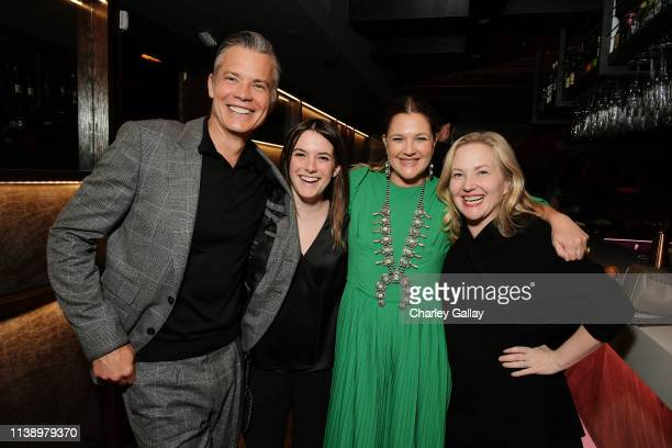 Timothy Olyphant Netflix Director Original Series Brittney Segal Drew Barrymore and Netflix VP Originak Series Jane Wiseman attend Netflix Original...