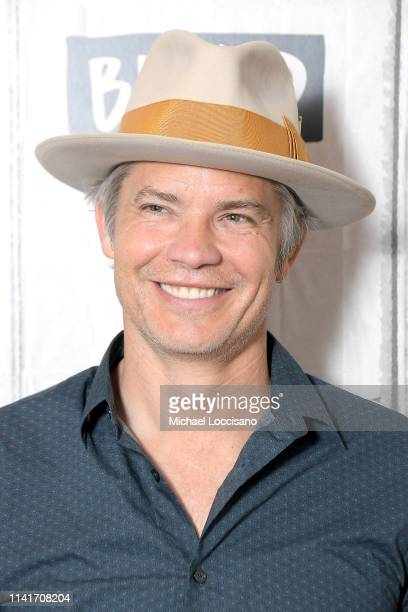 """Timothy Olyphant visits Build to discuss the series """"Santa Clarita Diet"""" and the movie """"Missing Link"""" at Build Studio on April 10, 2019 in New York..."""