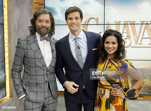 AMERICA Timothy Omundson and Karen David of ABC's 'Galavant' are guests on 'Good Morning America' 1/8/16 airing on the ABC Television Network