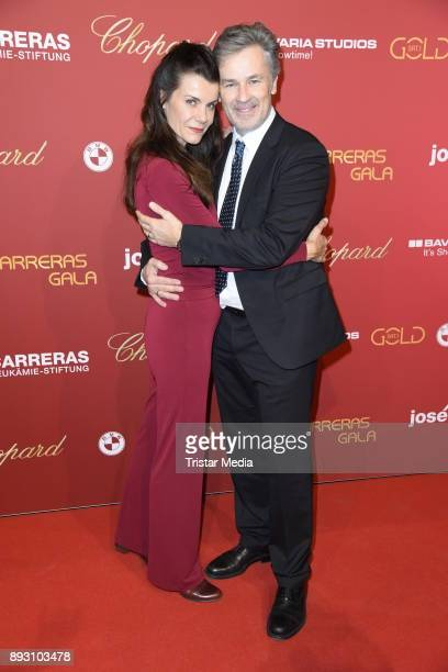Timothy Peach and his wife Nicola Tiggeler attend the 23th Annual Jose Carreras Gala on December 14 2017 in Munich Germany