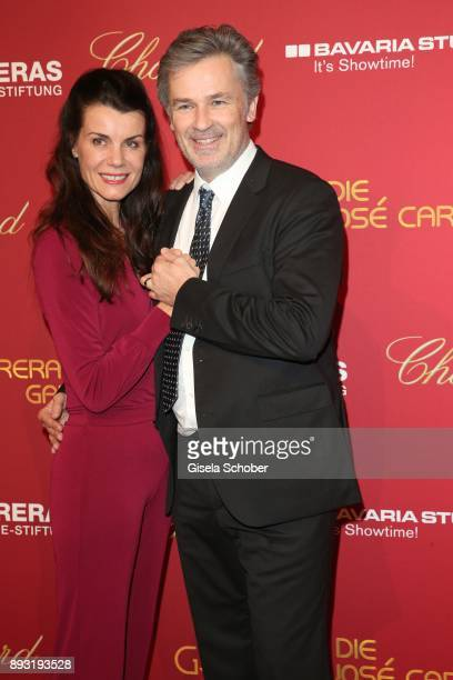 Timothy Peach and his wife Nicola Tiggeler during the 23th annual Jose Carreras Gala at Bavaria Filmstudios on December 14 2017 in Munich Germany