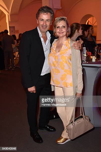 Timothy Peach and Katharina Schubert during the Audi Director's Cut during the Munich Film Festival 2016 at Praterinsel on June 25 2016 in Munich...
