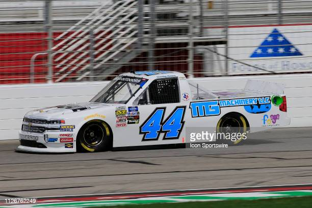 Timothy Peters during practice for the Ultimate Tailgating 200 NASCAR Gander Outdoors Truck Series race on February 22 2019 at the Atlanta Motor...