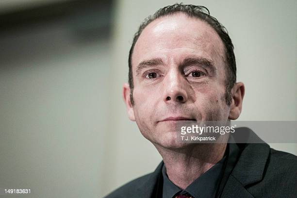 Timothy Ray Brown known as the Berlin Patient and the only person to have been cured of AIDS holds a press conference to announce the launch of the...