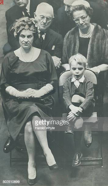 Timothy Robarts son of premier yawns during throne speech His mother sits beside him at opening of fourth session of 26th Legislature