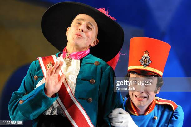 Timothy Robinson as Marrnoni and Huw Montague Rendall as Prince of Mantua in Garsington Opera's production of Jacques Offenbach's Fantasio directed...
