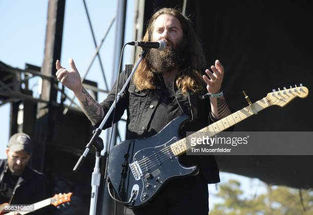Timothy Showalter of Strand of Oaks performs during the 2017 Voodoo Music Arts Experience at City Park on October 29 2017 in New Orleans Louisiana