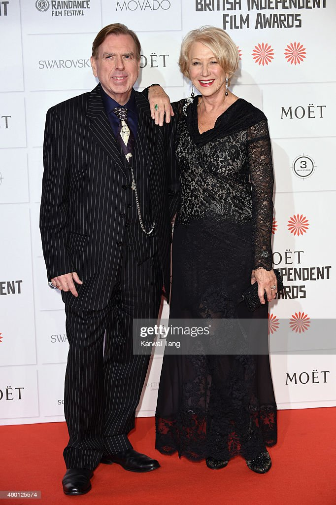 Timothy Spall and Helen Mirren attend the Moet British Independent Film Awards at Old Billingsgate Market on December 7, 2014 in London, England.