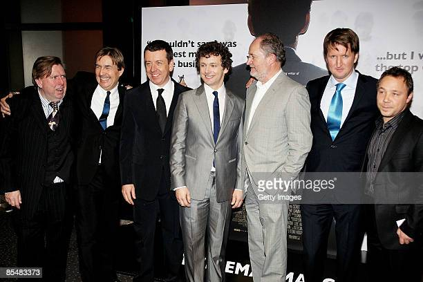 Timothy Spall Andy Harries Peter Morgan Michael Sheen Jim Broadbent Tom Hooper and Stephen Graham attend the world premiere of 'The Damned United'...