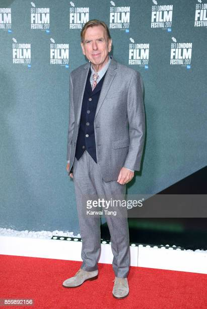 Timothy Spall attends the UK Premiere of The Party during the 61st BFI London Film Festival at Embankment Gardens Cinema on October 10 2017 in London...