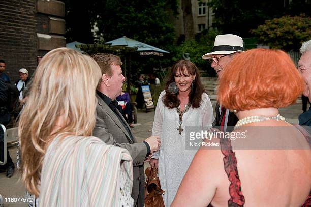 Timothy Spall Frances Barber and Sir Ian McKellen attend the memorial service for British playwright Pam Gems at Saint James Church on July 3 2011 in...